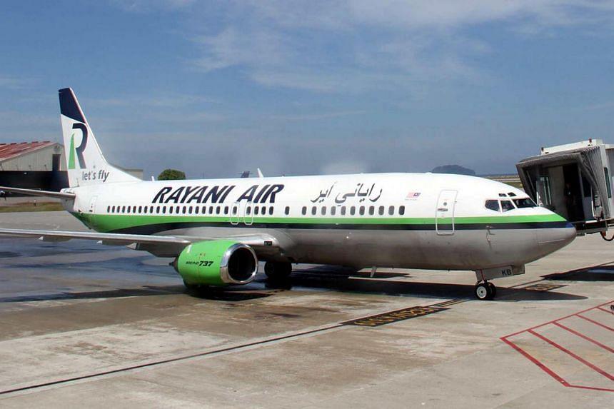 Rayani Air seen at Kota Kinabalu International Airport on April 9.