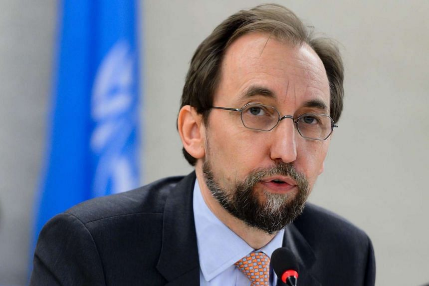 United Nations High Commissioner for Human Rights Zeid Ra'ad Al Hussein delivers a speech at the opening of a new Council's session, on June 13, 2016, in Geneva.