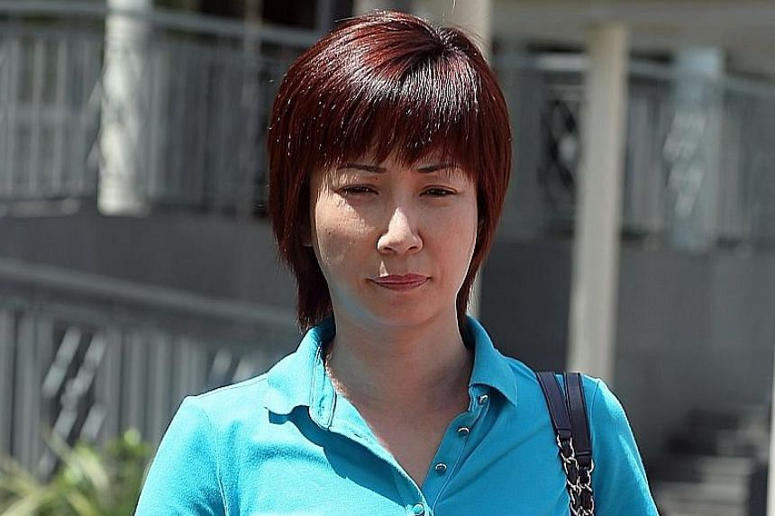 Guan arriving at the State Courts yesterday. During her trial last month, she had claimed ignorance of her former husband's alleged involvement in international match-fixing in June 2013 until she was confronted with newspaper reports, whereupon she