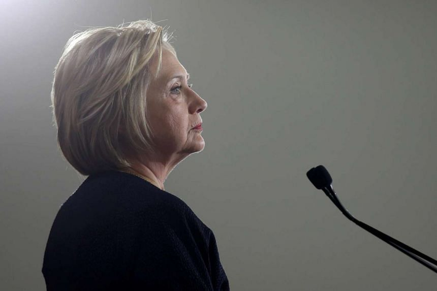 Democratic US presidential candidate Hillary Clinton pauses as she speaks at a campaign rally in Cleveland, Ohio.