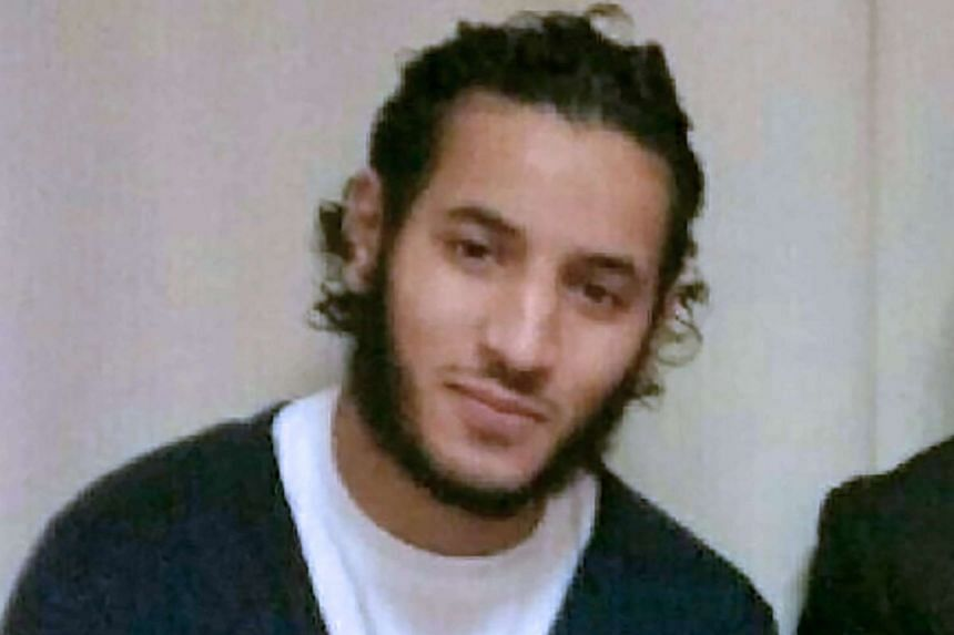 Larossi Abballa (pictured) stabbed a policeman repeatedly outside the latter's home in Magnanville, a northwestern suburb of Paris.