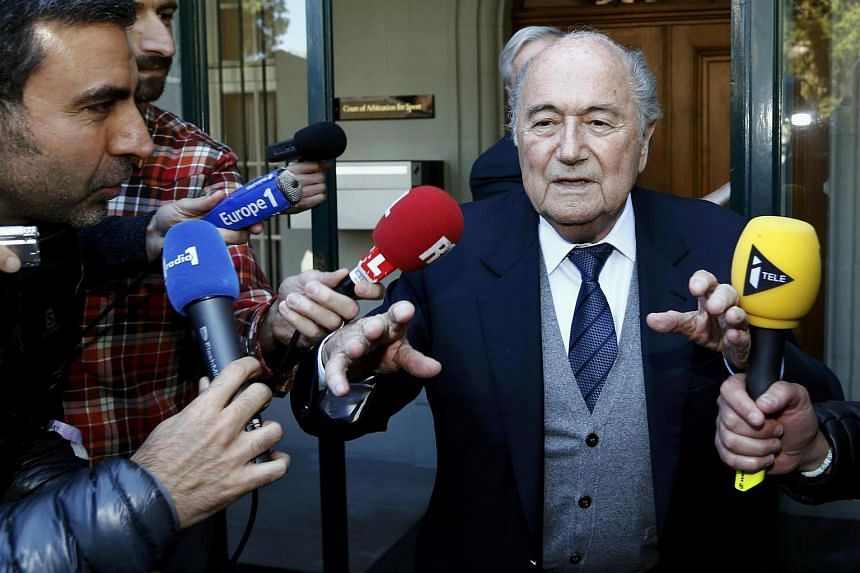 Sepp Blatter leaves the Court of Arbitration for Sport (CAS) where he was cited as a witness in an appeal of Uefa President Michel Platini against Fifa's ethics committee's ban.