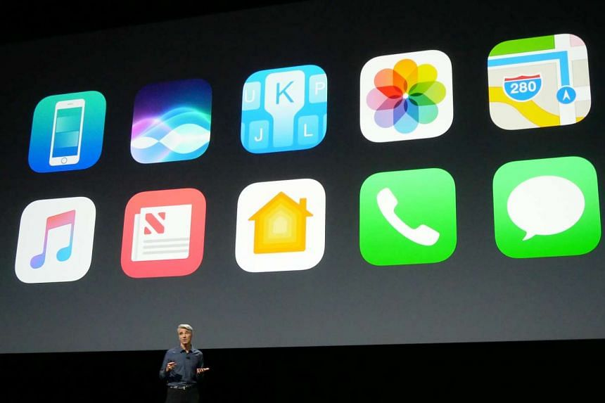 Apple's software chiefCraig Federighi talks about ten new features in iOS 10 during a keynote address at Apple's Worldwide Developer Conference 2016 in San Francisco.