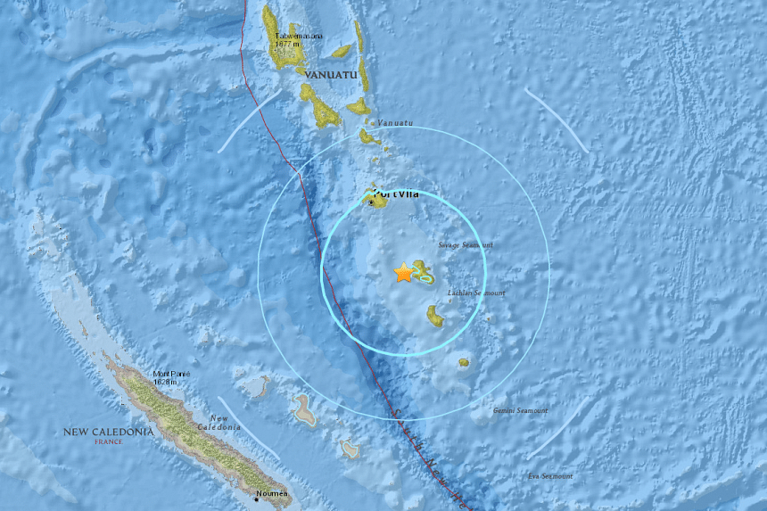 A 6.2 magnitude earthquake hit the South Pacific island of Vanuatu on June 14, 2016, the United States Geological Survey (USGS) said.