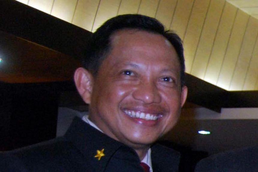 Indonesia's counter-terrorism chief Tito Karnavian, shown here in a file photo, has emerged as President Joko Widodo's choice to replace retiring police chief Badrodin Haiti.