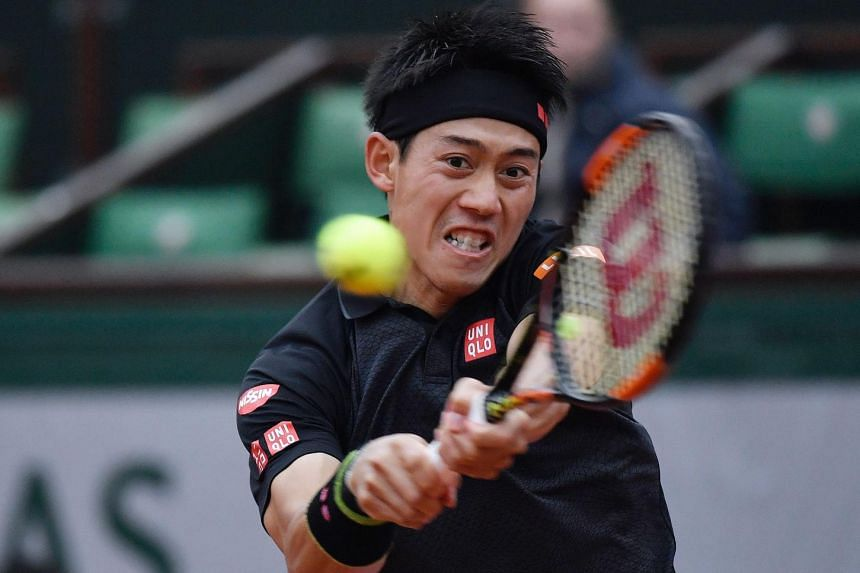 Japan's Kei Nishikori was forced to pull out of the ATP Halle tennis tournament on Wednesday (June 15) due to a rib injury.