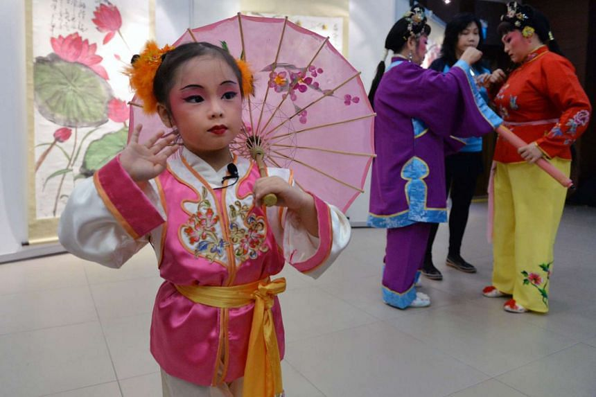Budding four-year-old Chinese Opera performer Goh Wee-Ann will be performing with her grandmother and mother in the upcoming PAssionArts Festival 2016.