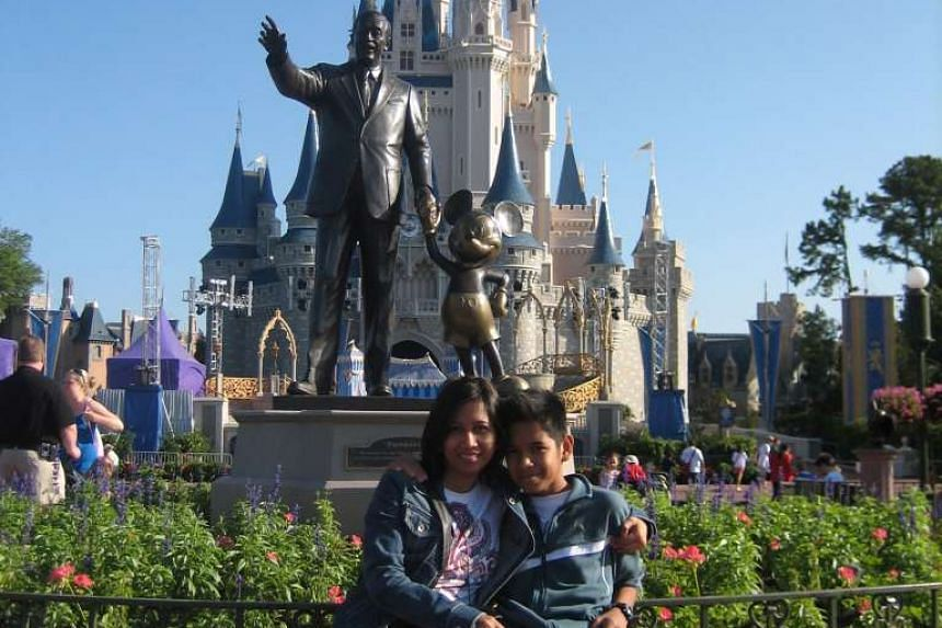 A family from Singapore at Disney World in Florida.