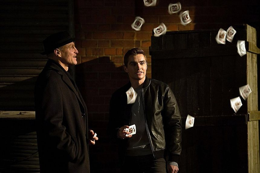 Now You See Me 2 stars Woody Harrelson (left) and Dave Franco (right).