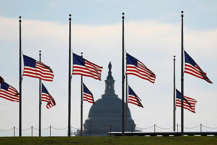 Omar, who worked as a private security guard, seemed to have been inspired by radical ideology he was exposed to over the Internet. Flags at the Washington Monument flying at half-mast on Monday in honour of the 49 who were killed in Sunday's shootin