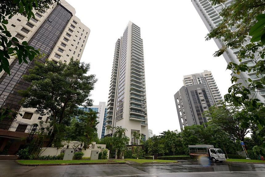 Ardmore Three (centre) moved at least 19 units last month, according to analysts. Resale prices for non-landed private homes rose across the board in May from the previous month, with the core central region seeing a 0.4 per cent gain, and prices in