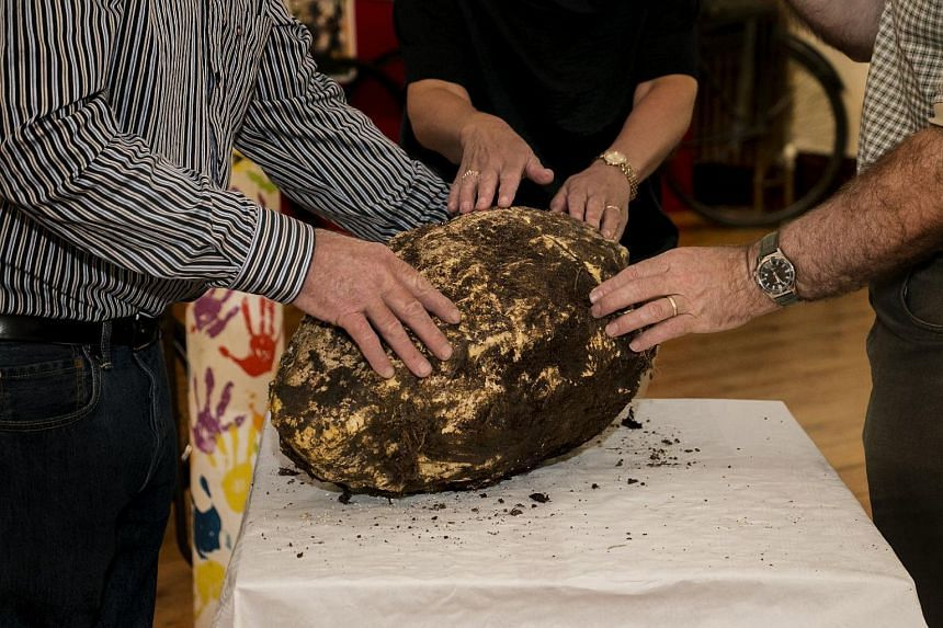The 2,000-year-old hunk of bog butter found in Ireland.
