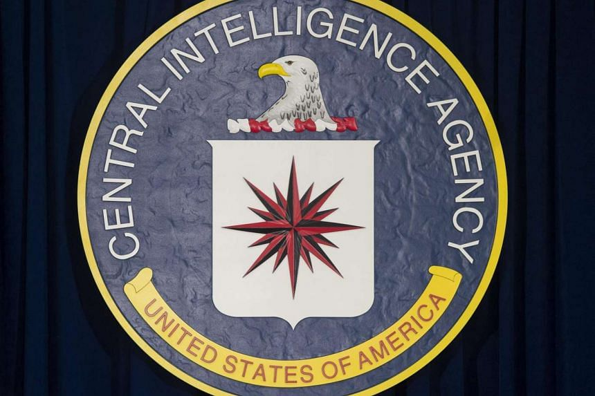 The CIA logo at the agency's headquarters in Langley, Virginia.