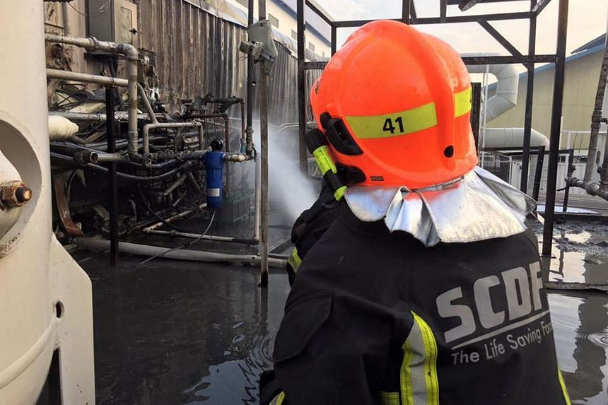 A processing plant fire in Joo Koon was put out by Singapore Civil Defence Force firefighters on Wednesday morning.