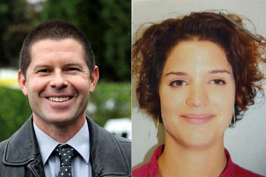 Police commander Jean-Baptiste Salvaing and partner Jessica Schneider.