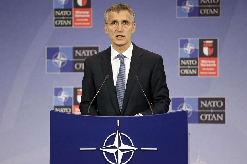 Nato Secretary-General Jens Stoltenberg holds a news conference after a Nato Defence Ministers meeting in Brussels on June 14, 2016.