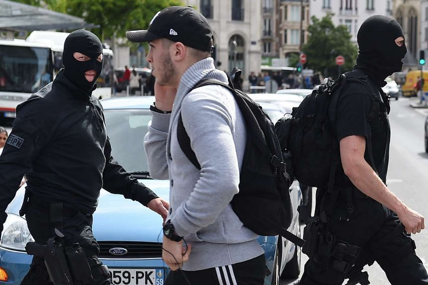 French special police patrol in Lille, France, June 14, 2016.