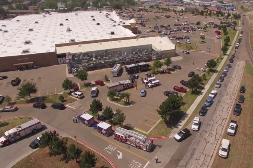 An aerial view of the scene from online footage.