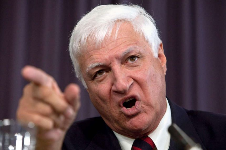 Australian politician Bob Katter during a press conference in Canberra on Sept 7, 2010.