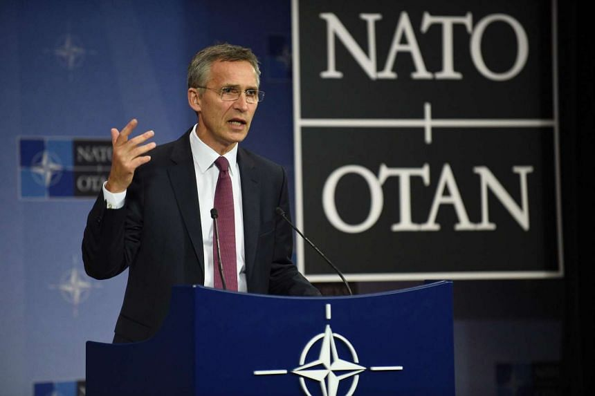 Nato secretary-general Jens Stoltenberg speaks at a press conference at the Nato headquarters in Brussels, on June 15, 2016.