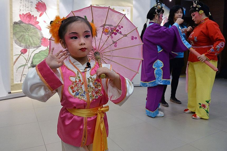 Four-year-old Wee-Ann will be performing in a Chinese opera with her grandmother and mother in the upcoming PAssionArts Festival.