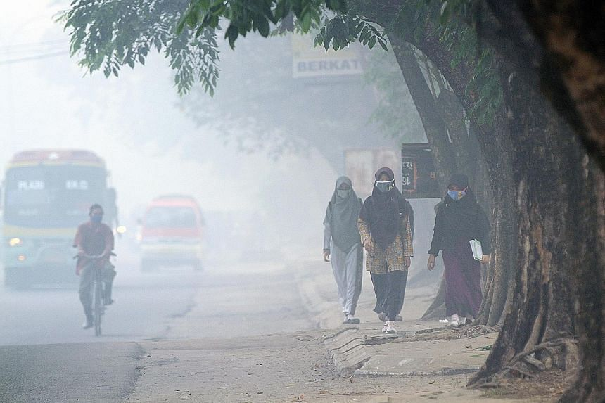 Residents in Palembang, South Sumatra province, were among the people who were worst hit when air pollution soared to record levels in October last year.
