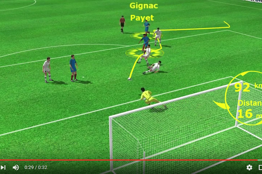 From a different angle: How Dimitri Payet slotted between three Albanian players to seal a French 2-0 win and send them to the knockout stage of Euro 2016.