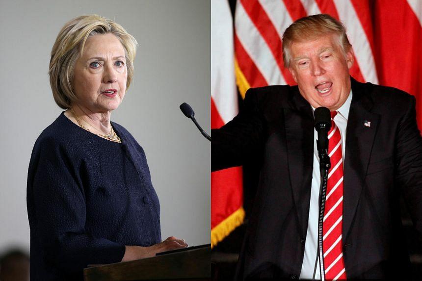 Democrat Hillary Clinton (left) and Republican Donald Trump.