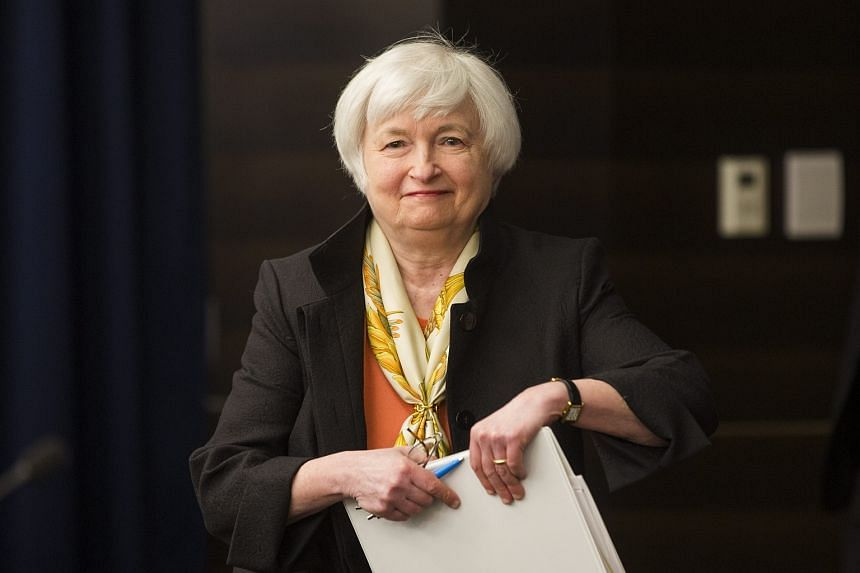 US Federal Reserve Chair Janet Yellen speaks at a press conference after announcing that the Federal Reserve plans to leave interest rates unchanged in Washington, DC, US, June 15.