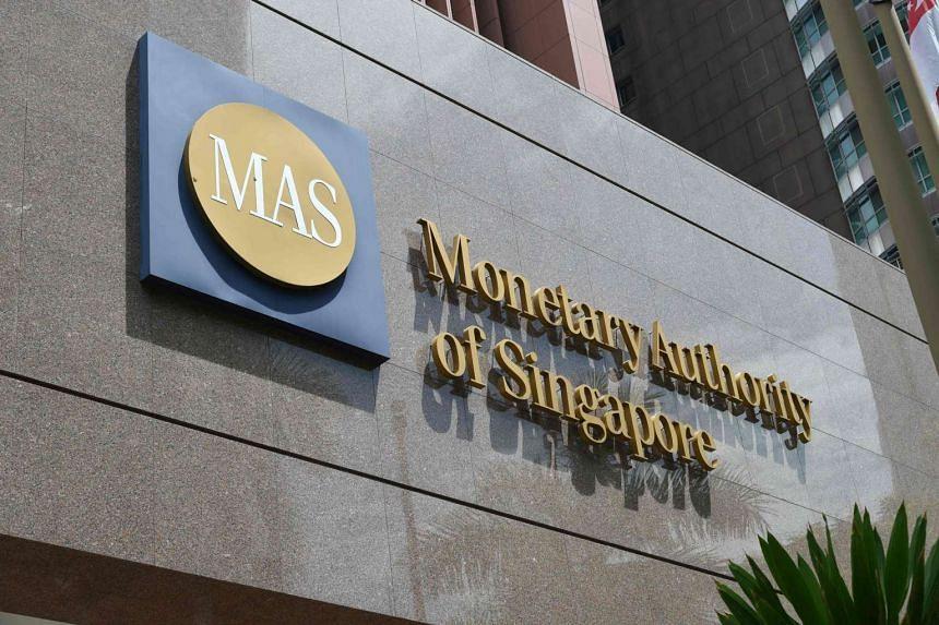 Monetary Authority of Singapore building in Shenton Way.