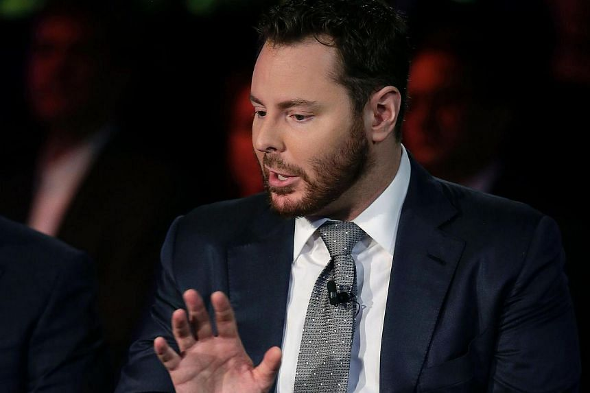 This file photo taken in 2015 shows Parker Foundation chairman Sean Parker speaking during the Clinton Global Initiative annual meeting in New York, US.