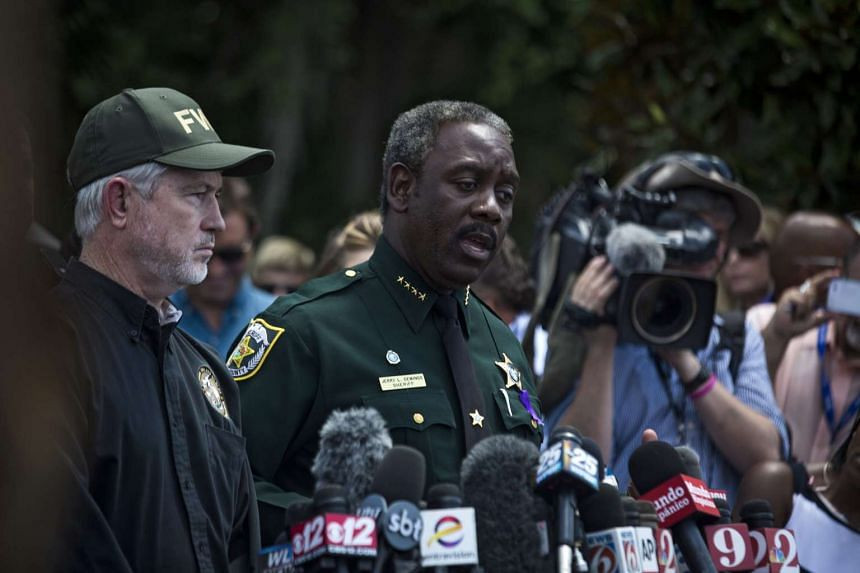 Orange County Sheriff Jerry Demings speaks with media on June 15, 2016.