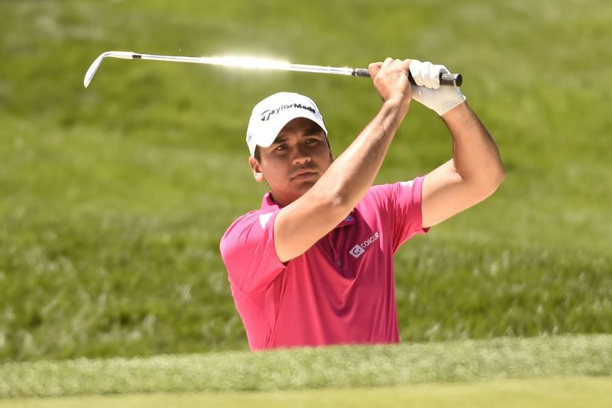 """World No. 1 Jason Day hitting a bunker shot during the US Open practice round. Together with Rory McIlroy and Jordan Spieth, the other members of golf's """"Big Three"""", the Australian will be leading the field for the US Open, which is making its return at O"""