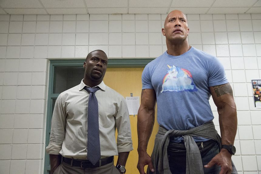 Kevin Hart and Dwayne Johnson (both above) in Central Intelligence.
