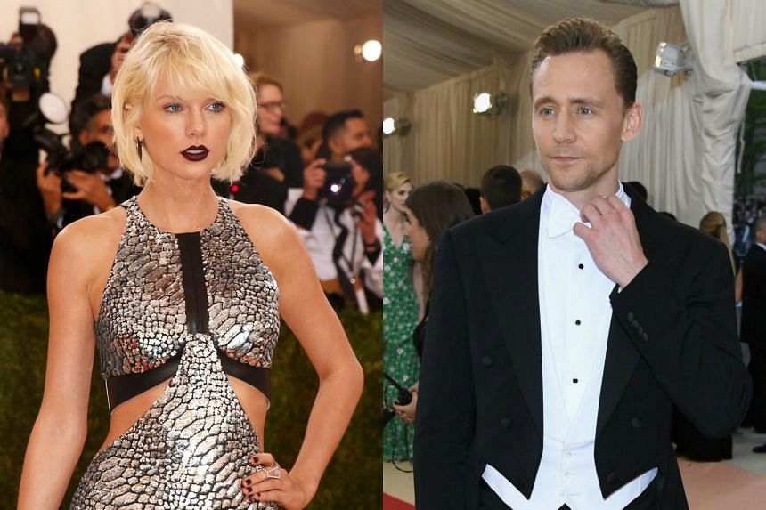 Pop star Taylor Swift (left) and actor Tom Hiddleston.