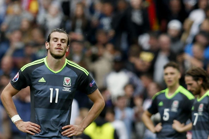 Gareth Bale reacts after Wales' 1-2 loss to England on June 16, 2016.