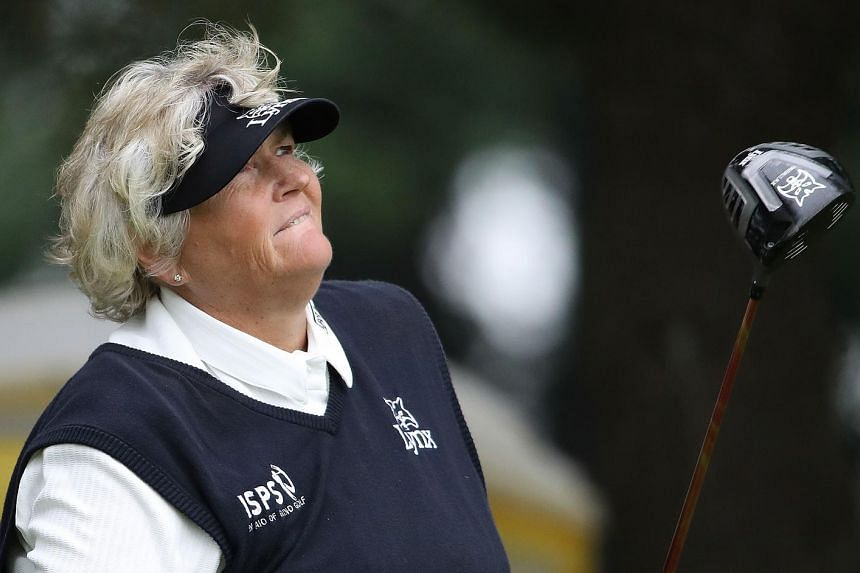 Laura Davies during the first round of the Meijer LPGA Classic at Blythefield Country Club on June 16, 2016 in Belmont, Michigan.
