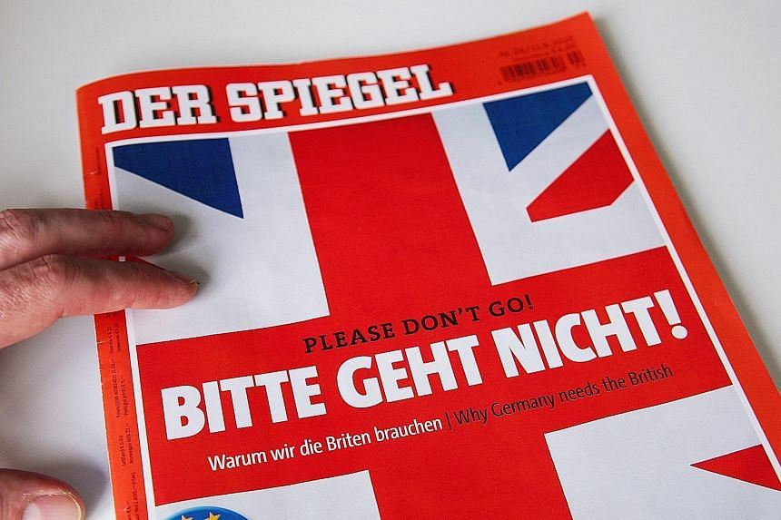 German weekly news magazine Der Spiegel, in its German- English special issue, encourages British citizens to vote to remain in the European Union.
