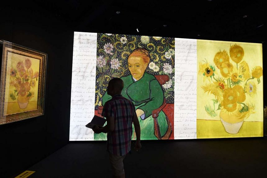 An exhibition about the life and works of Dutch painter Vincent van Gogh, in Beijing on June 16, 2016.