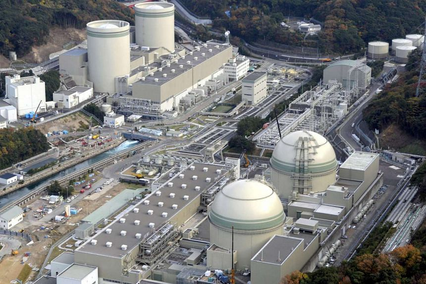 Reactor buildings at Kansai Electric Power's Takahama nuclear plant.