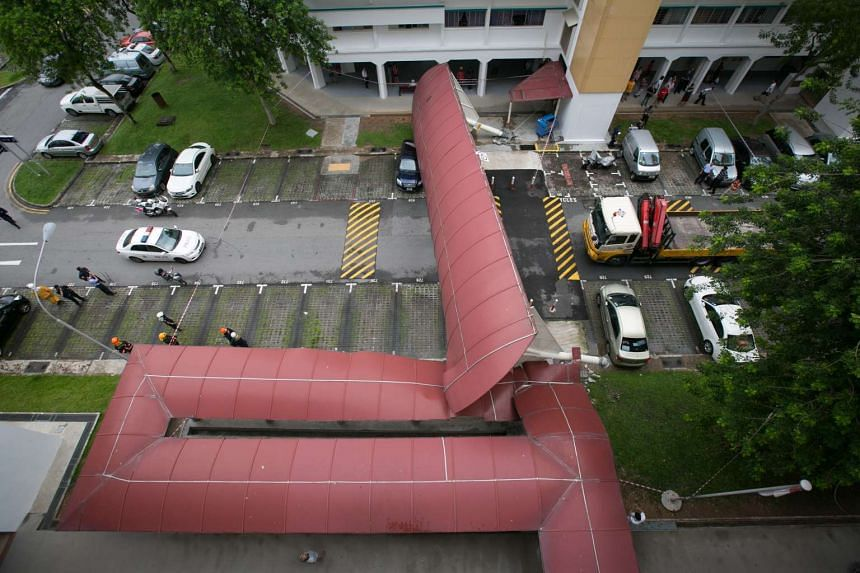 An aerial view of the incident.