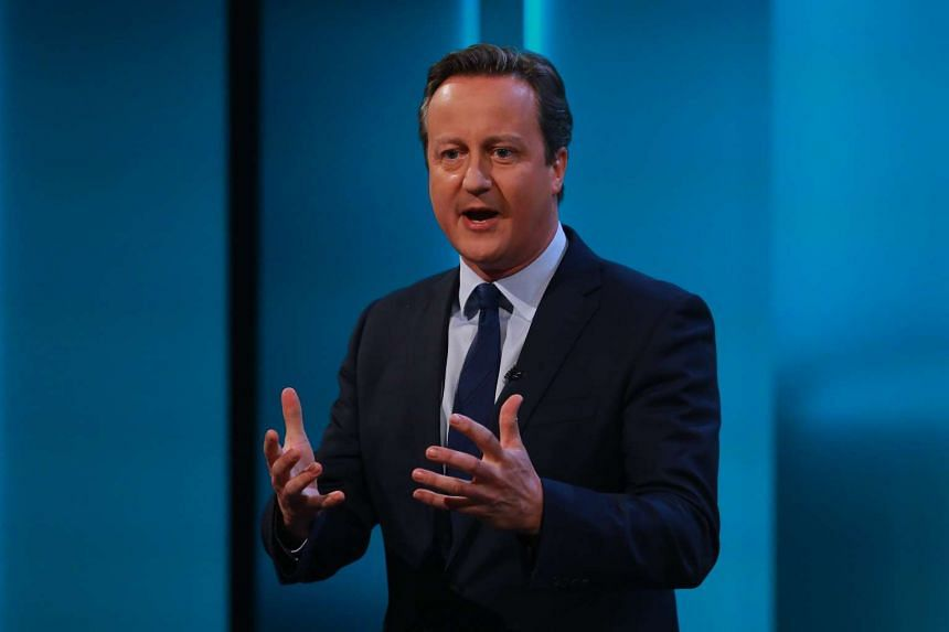 This handout picture released by ITV on June 7, 2016 shows British Prime Minister David Cameron taking part in a television event in London.