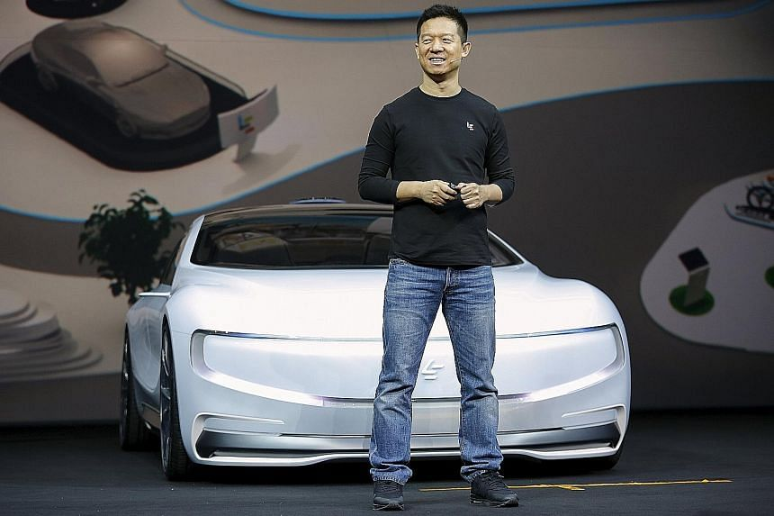 Mr Jia Yueting, co-founder and head of LeEco, unveiled an all-electric battery concept car called LeSEE in Beijing in April.