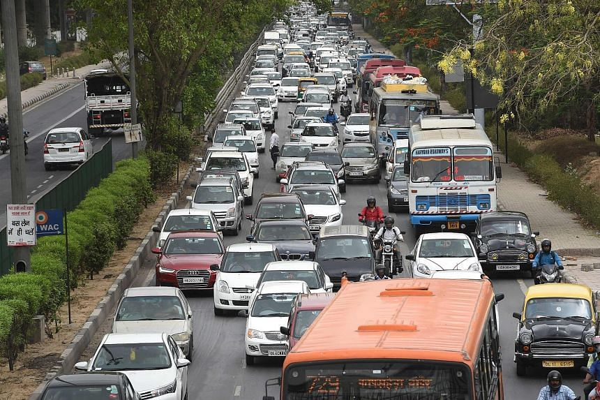 In Delhi, which has a population of 16 million, traffic jams are common even during non-peak hours.