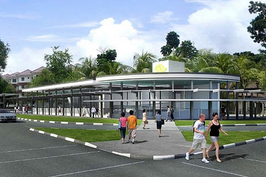 Artists' impressions of the Sungei Bedok MRT station's interior (left, above) and exterior (left, below). KTC Civil Engineering and Construction was awarded the contract to build the station, which is the last major civil contract for the 13km East C