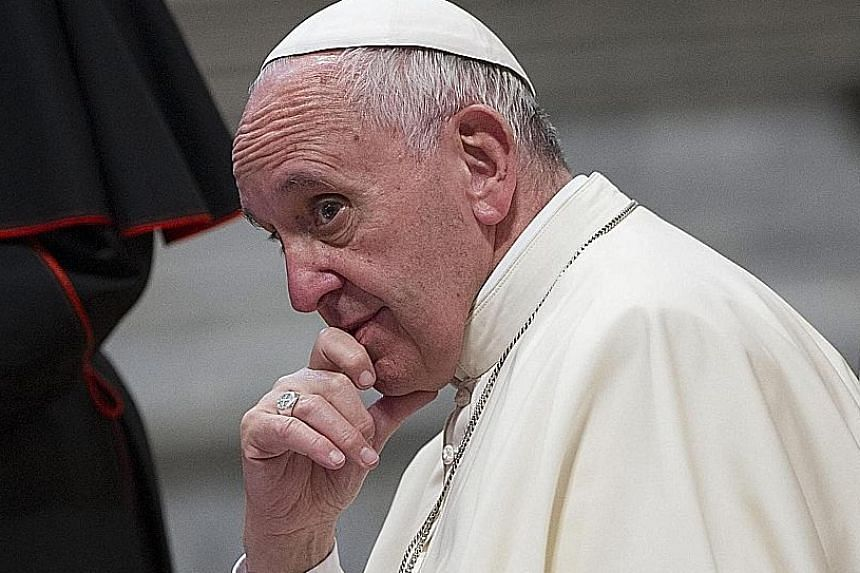 """Pope Francis upset Catholic conservatives when he said a """"great majority"""" of Catholic marriages were invalid due to couples' failure to truly understand the permanence of the sacrament."""