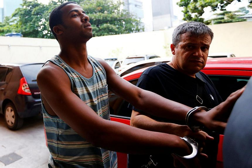 One of the men charged with the crime, Raí de Souza (left), has already been arrested.