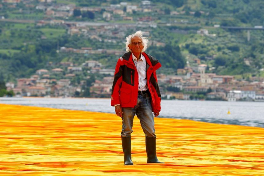 First conceived in 1970 for the River Plate delta in Argentina, the Christ-like project that Christo, 81, devised with his late wife Jeanne-Claude has finally been resurrected.