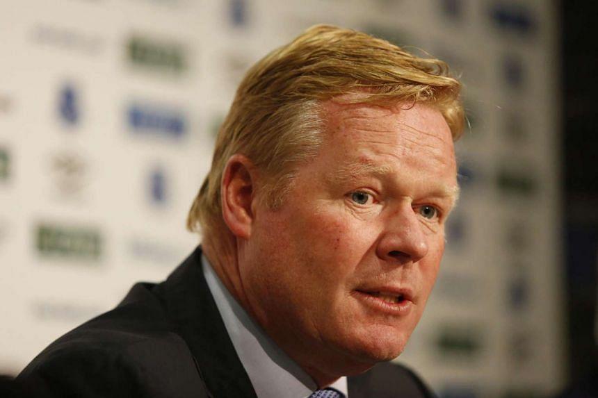 New Everton manager Ronald Koeman.