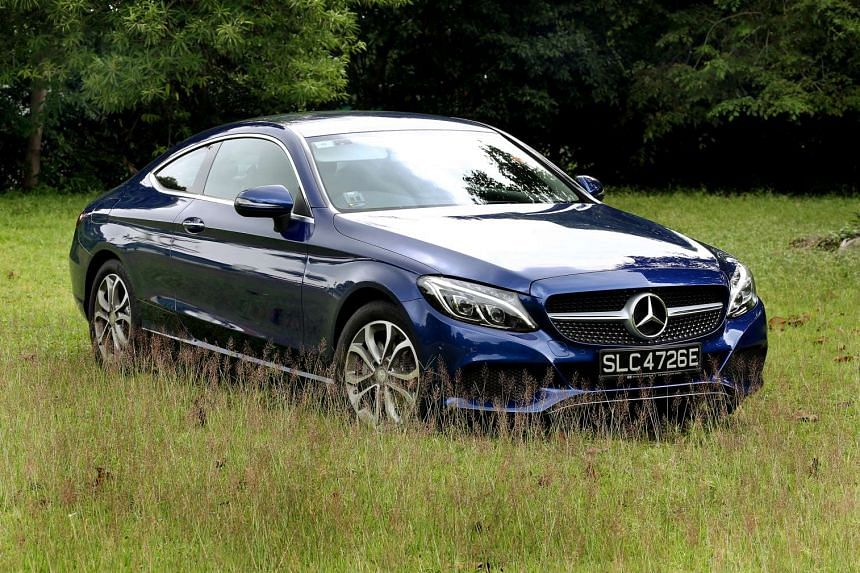 The new C-class Coupe looks good and is The new C-class Coupe looks good and is easy to get in and out of for a two-door.